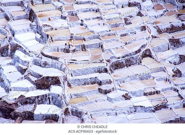 Salt pond mines of Maras, 40?kilometers north of Cuzco, in the Cuzco Region of Peru