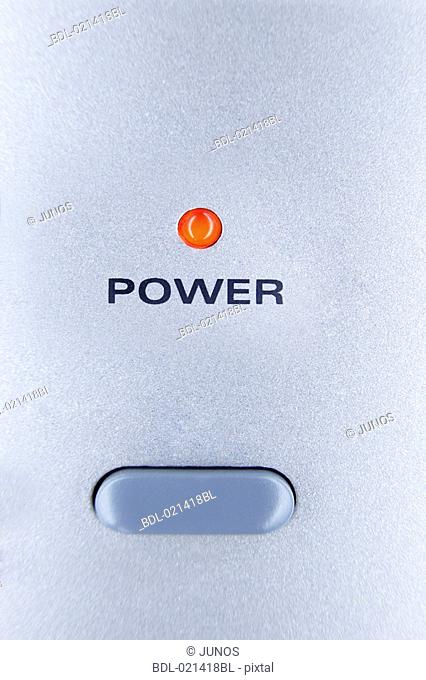close-up of power switch