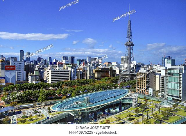 District, Japan, Asia, Cityscape, Nagoya, City, Sakae, TV Tower, aichi, architecture, colourful, downtown, fall, no people, skyline, square, touristic, tower