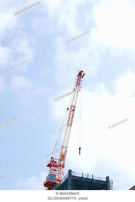Crane at a construction site