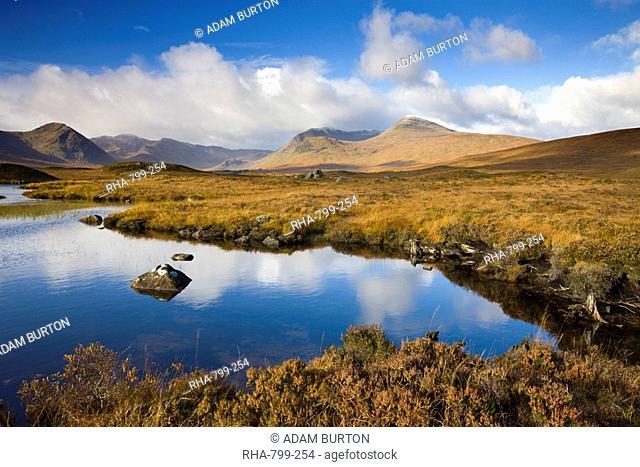 Rannoch Moor in the autumn, Highlands, Scotland, United Kingdom, Europe