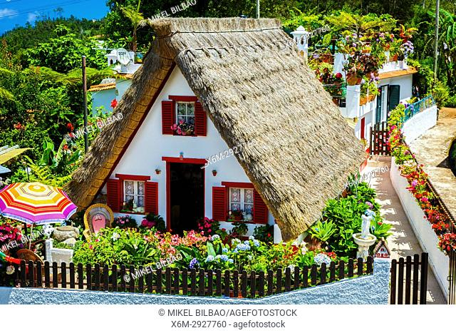 Traditional house (palheiro). Santana. Madeira, Portugal, Europe