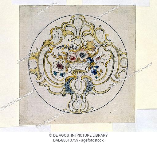 Design for a watchcase, by George Michael Moser (1706-1783).  London, Victoria And Albert Museum