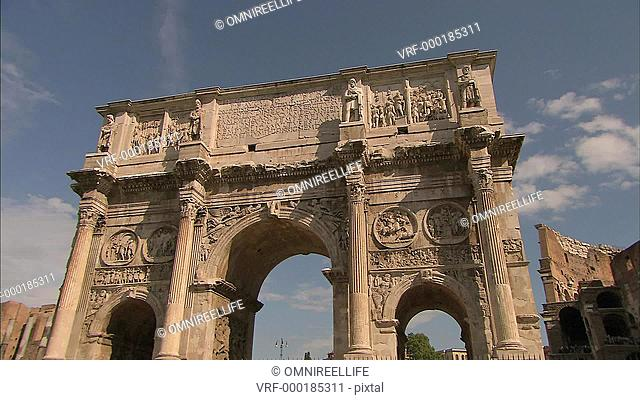 Front view of Arch of Constantine