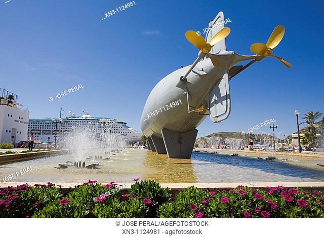Isaac Peral submarine, Cartagena, Murcia region, Spain
