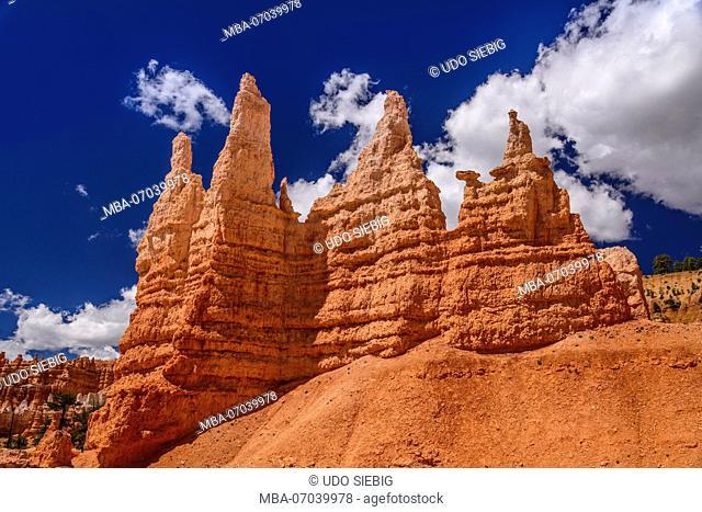 USA, Utah, Garfield County, Bryce Canyon National Park, Amphitheater, Queen Victoria, Queens Garden Trail