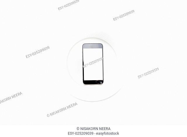 cellphone on dish