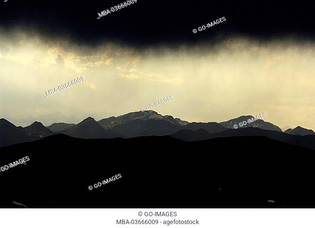 Stormy atmosphere, the Dolomites, South Tirol