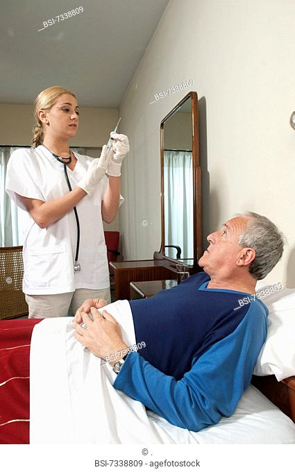 INJECTION, ELDERLY PERSON