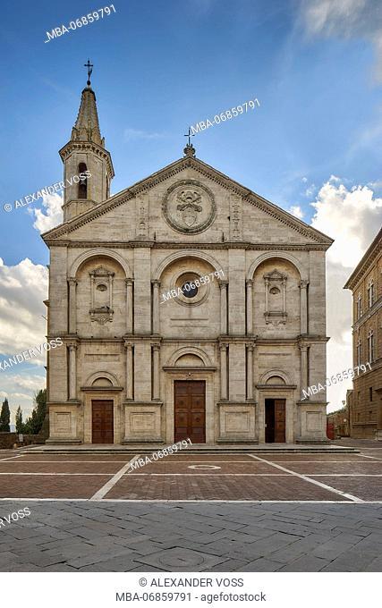 Santa Maria Assunta, Pienza, Val D'Orcia, Tuscany, Italy
