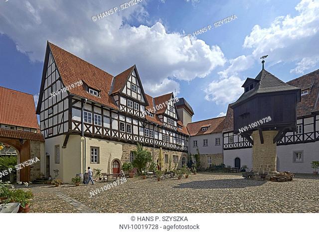 The Adelshof in Quedlinburg, Saxony-Anhalt, Germany