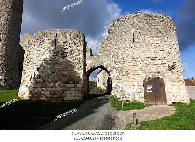 Medieval fortress of Yevre-le-chatel, Loiret, Centre-Val de Loire, France