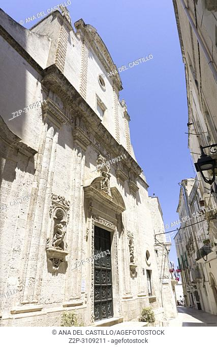 Monopoli in Puglia, Italy.,SM del Suffragio church