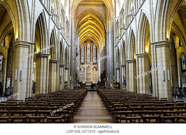 England, Cornwall, Truro. The interior of Truro Cathedral