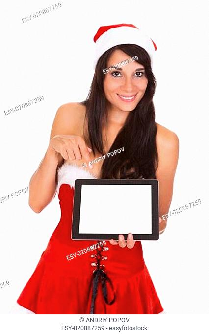 Happy Woman With Digital Tablet