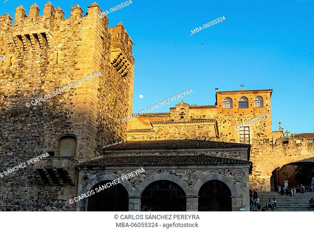 Main square of Caceres Spain