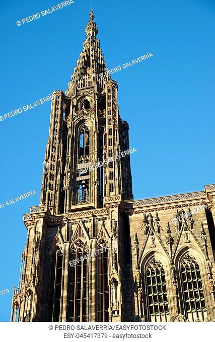 Cathedral in Strasbourg, Alsace, France