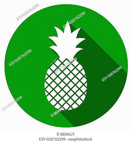pineapple icon with a long shadow