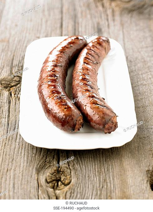 Grilled sausages from Toulouse