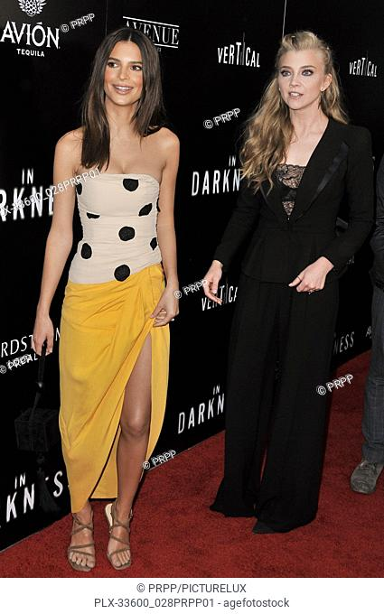 "Emily Ratajkowski and Natalie Dormer at the """"In Darkness"""" Los Angeles Premiere held at the ArcLight Hollywood in Los Angeles, CA on Wednesday, May 23, 2018"