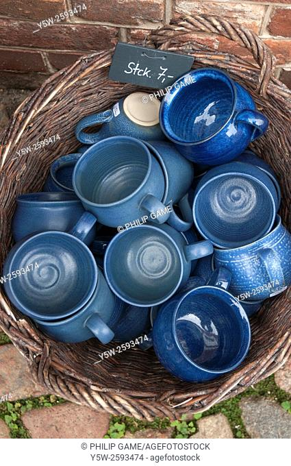 Ceramics for sale in the Hollandisches Viertel or Dutch Quarter of Potsdam, Germany