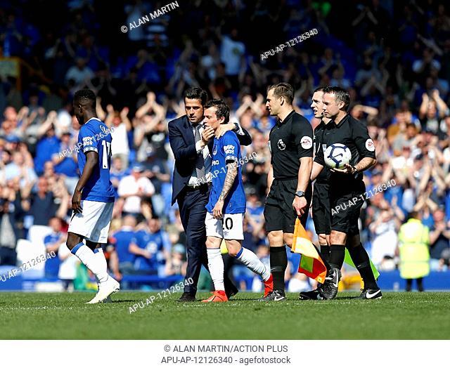 2019 EPL Premier League Football Everton v Man Utd Apr 21st. 21st April 2019, Goodison Park, Liverpool, England; EPL Premier League Football