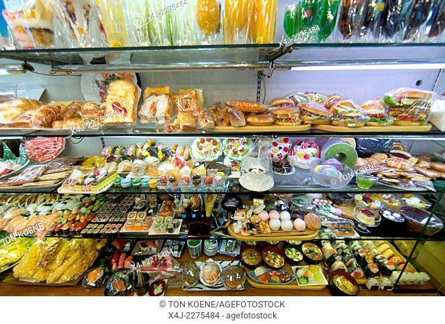 plastic food for restaurant displays in Tokyo