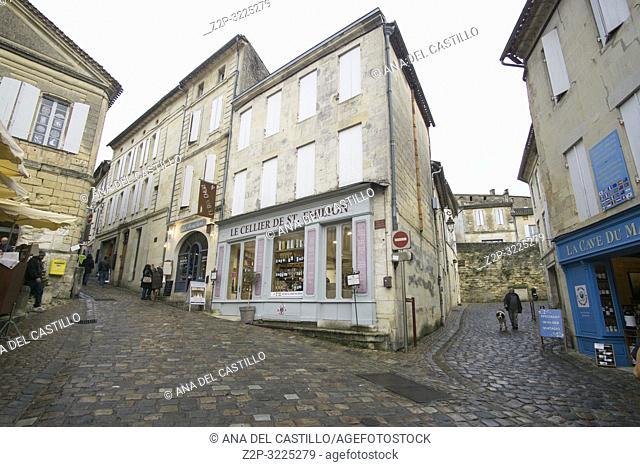 Saint Emilion is World Heritage site in France on December 8, 2018