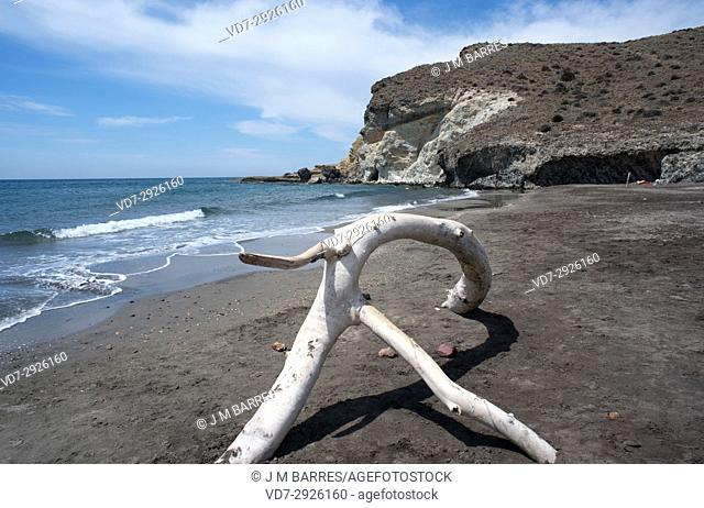Cala or Playa de La Media Luna. Cabo de Gata-Nijar Natural Park, Almeria province, Andalucia, Spain