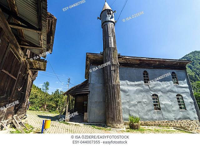 Artvin,Macahel,Camili Camii(mosque),a special mosque coverd with wooden boards built in Eighteen century. TURKEY,Artvin,August 18, 2015