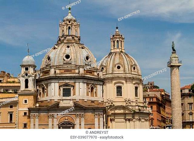Chiesa del Santissimo Nome di Maria al Foro Traiano and Santa Maria di Loreto in Rome, Italy