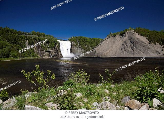 Montmorency Falls at spring time, Montmorency Falls Park, Beauport, Quebec, Canada