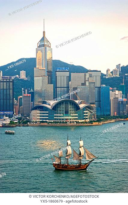 Convention Centre and Victoria Harbour, Hong Kong