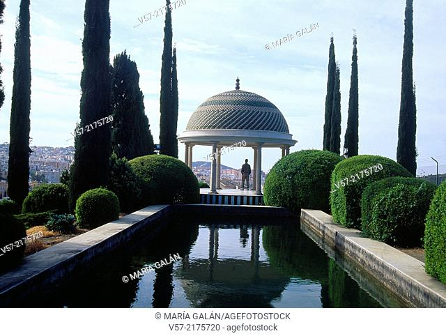 Pavilion and viewpoint. La Concepcion Historical Garden, Malaga, Andalucia, Spain