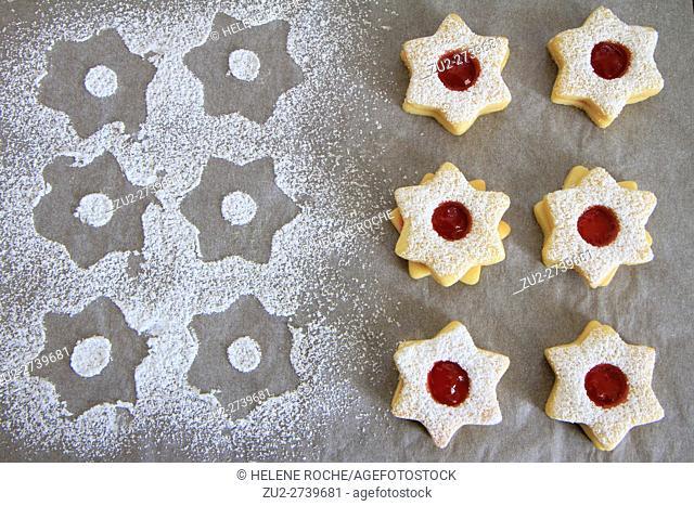 Sprinkled christmas cookies