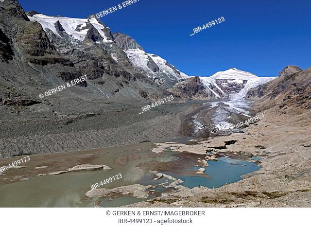 Pasterze Glacier with Johannisberg, Grossglockner, High Tauern National Park, Austria