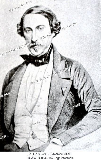 Portrait of Sebastián Iradier (1809-1865) a Spanish Basque composer. Dated 19th Century
