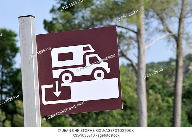 Camping car sign