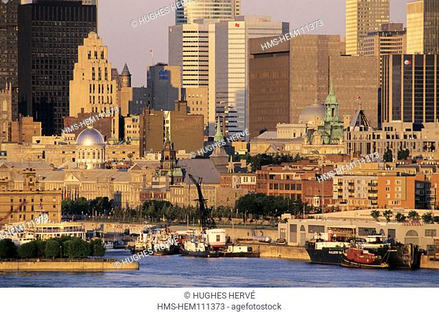 Canada, Quebec, Montreal, the port on downtown