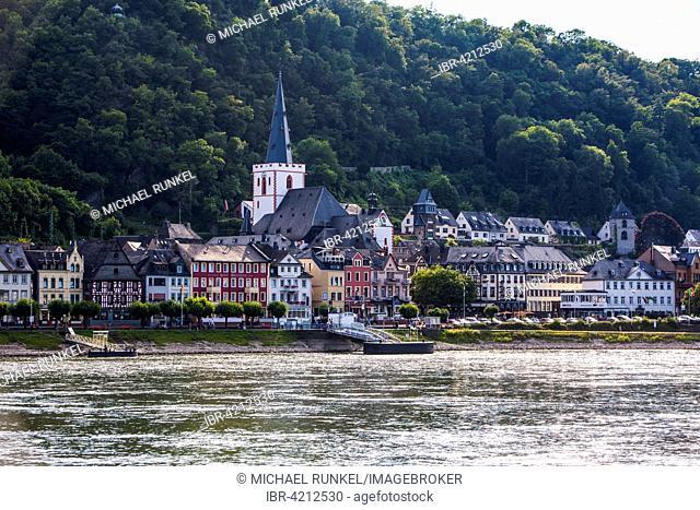 Town of Bacharach, Mittelrhein oder Middle Rhine region, Germany
