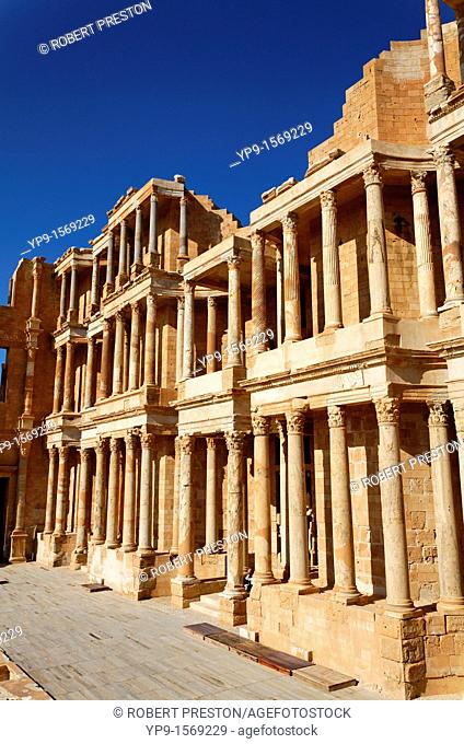 The Roman theatre at Sabratha, Libya