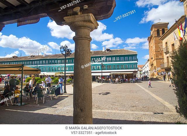 Plaza Mayor. Almagro, Ciudad Real province, Castilla La Mancha, Spain