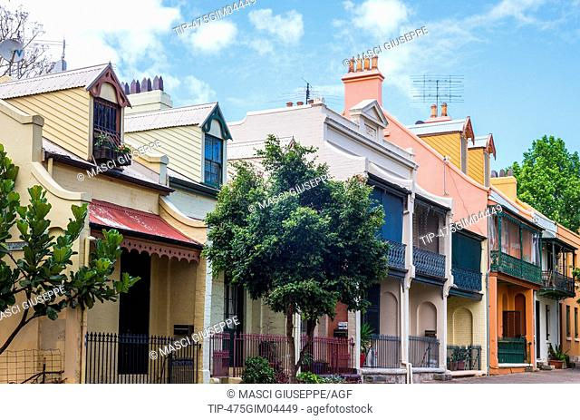 Australia, Sydney, the traditional houses of Forbes Street