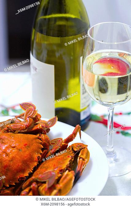 shellfish and white wine