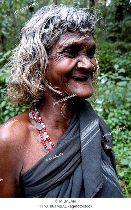 OLD TRIBAL WOMAN OF WAYANAD DISTRICT
