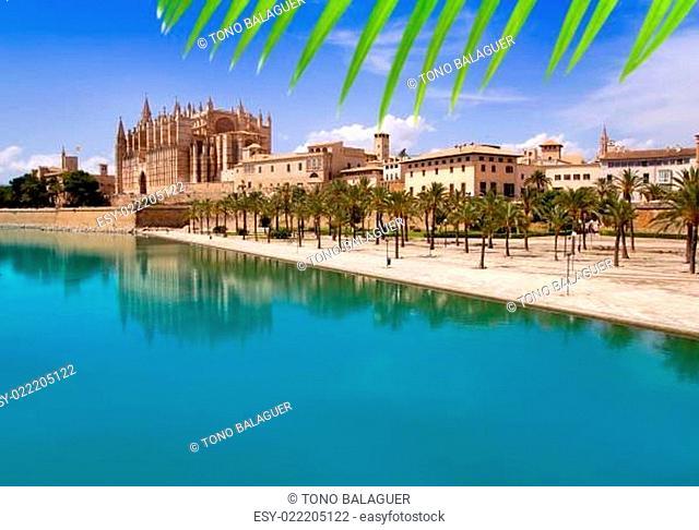 Majorca La seu Cathedral and Almudaina from Palma