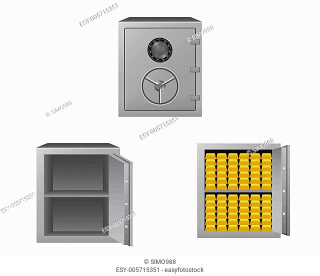 Safes with gold bars