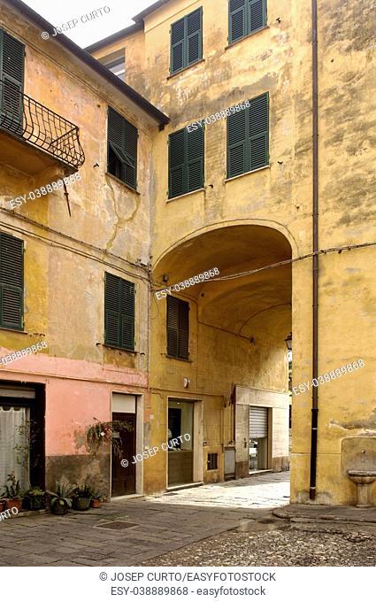 Old Town of Albenga, Liguria, Italy,
