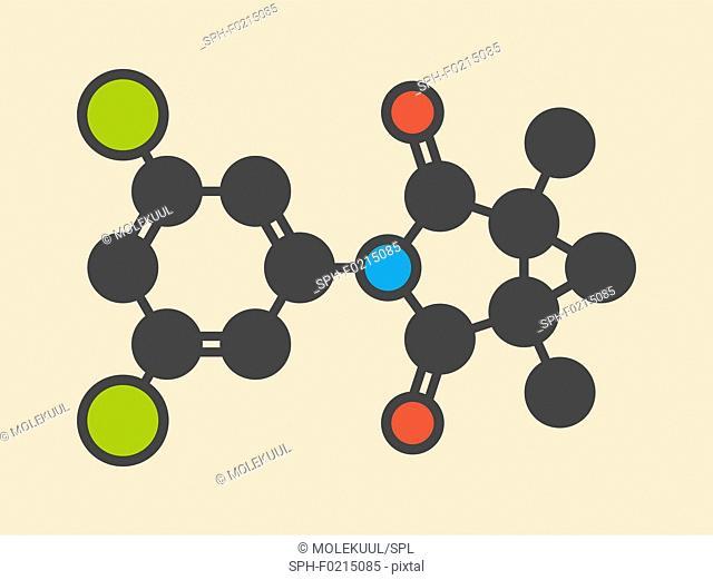 Procymidone pesticide molecule