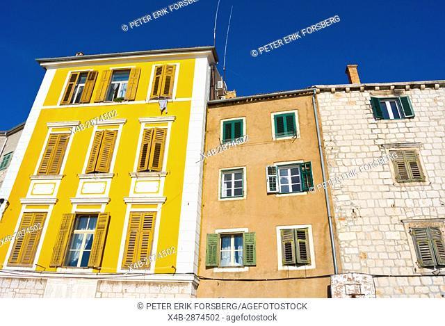 Residential housing, Obala prvoboraca, Dolac, Sibenik, Dalmatia, Croatia